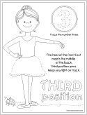 Third Position Coloring Page Dance Coloring Pages Ballet Crafts Kids Dance Classes