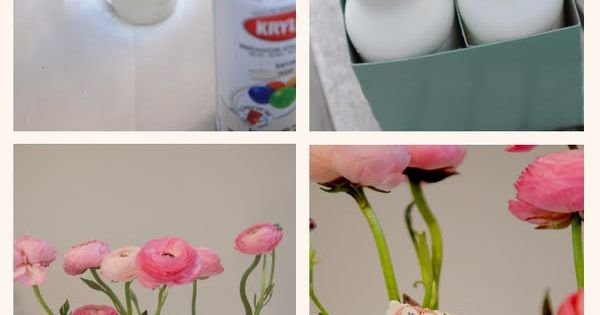 DIY - Spray painted Soda Bottle Vases with Krylon Indoor / Outdoor