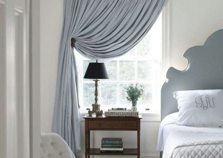 Curtains Bedrooms And Blue And White On Pinterest