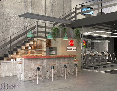 Check Out New Work On My Behance Profile Gym Industrial Design 3ds Max Vary Adobe Photosho Http Be Net G Gym Design Gym Design Interior Gym Interior