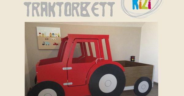 diy bauanleitung traktorbett bauanleitung kinderbetten und dawanda. Black Bedroom Furniture Sets. Home Design Ideas