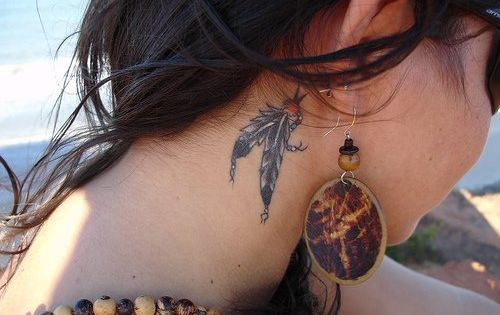 pretty feather tattoo Indian nativeamerican
