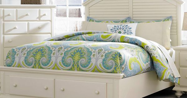 Seabrooke queen panel bed with storage footboard by for K michelle bedroom furniture