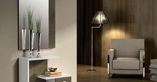 Mueble recibidor moderno con espejo y cajones mueble - Mueble italiano moderno ...