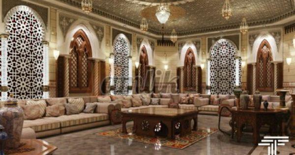 Arab Salon Hotel Interior Design Luxury House Designs Arabian Decor