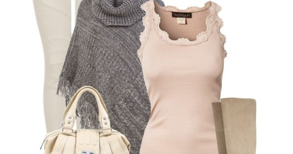 Outfit- big sweater over a pale pink lacey top
