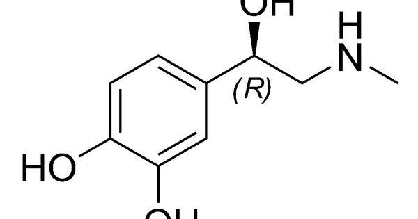 molecular structure of adrenaline  epinephrine