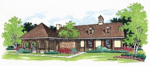 Mediterranean With 3 Bedrooms And 2 Baths House Plan 5364 Direct From The Designers House Plans Brick Arch Architectural Design House Plans