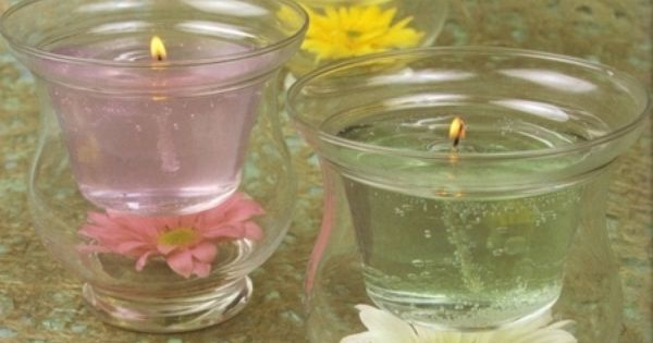Velas de gel con flores velas pinterest craft - Velas de gel ...