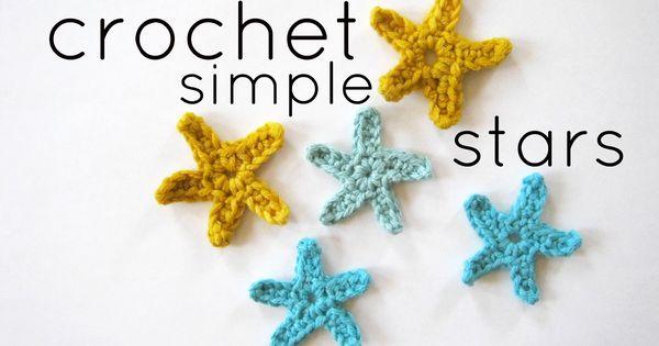 Crochet simple stars pattern