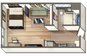 Olympic Studio Lofts Nms Apartments Studio Apartment Living Small House Plans Apartment Layout