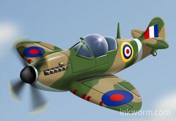 Cartoon Spitfire | Vintage aircraft, Cartoon plane, Car cartoon