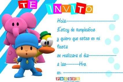 Cumple Lucas Cumpleaños Pocoyo Decoracion Invitaciones De