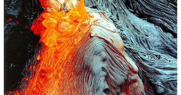 6/11/14 11:44a Hawaii Volcanoes National Park Volcanic Molten Lava Flow Red Hot