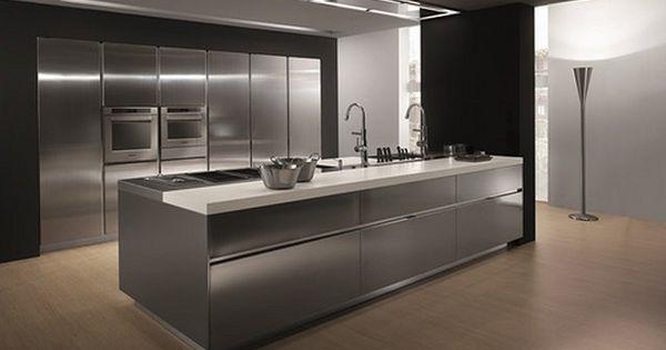 Elektra Design Pietro Arosio Metal Kitchen Cabinets Stainless Steel Kitchen Island Modern Kitchen Design
