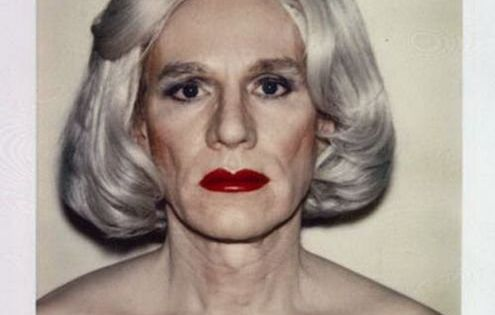 Andy Warhol, Polaroid Self Portrait in Drag...