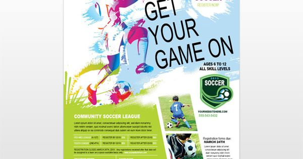 youthsoccerflyer Information flyer Pinterest – Soccer Flyer Template