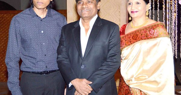 Johnny Lever with wife Sujata and son | Bollywood ...  Johny