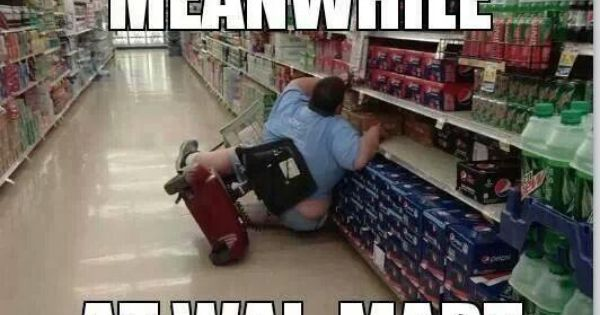 Because Electric Carts Are For The Disabled Not The Fat