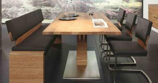 Tischgruppe Essgruppe Esszimmer Bank Tisch Sthle Asteiche Massiv Gelt Jpg 480 318 Esszimmer Modern Esstisch Stuhle Bank Esszimmer