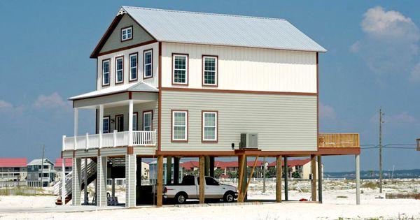 Modular beach houses on stilts plans modular homes up to for Stilt house kits