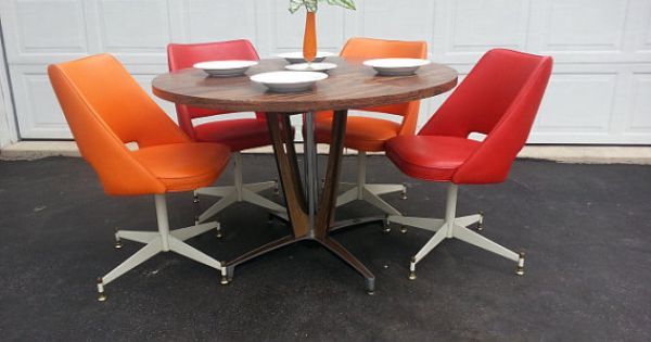 Mid Century Dinette Set Retro Dining Table And Chairs