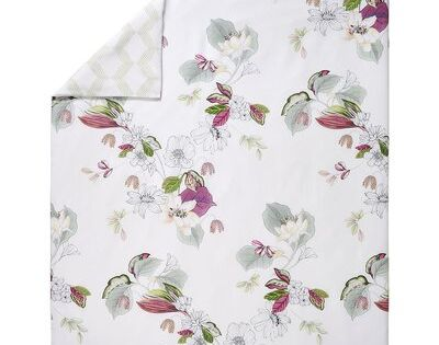 Yves Delorme Riviera White Floral 100 Supima Certified Cotton Duvet Cover Size Twin Duvet Cover Duvet Covers King Duvet Cover Quilted Coverlet