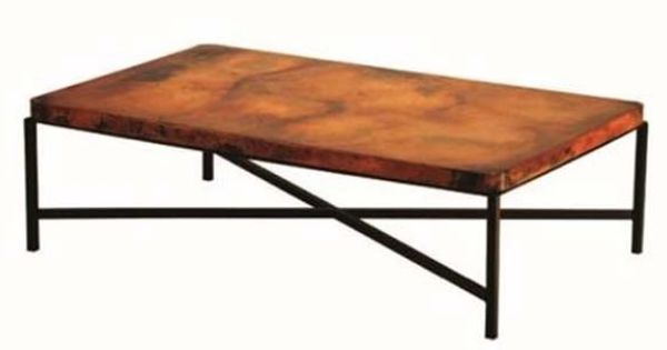 Hand Hammered Copper Coffee Table Copenhagen Base Shown Rectangular Item Ct03076 Also