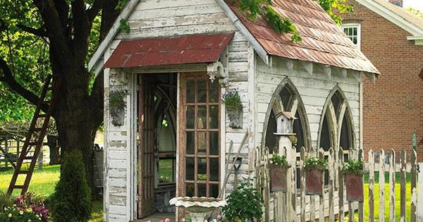 playhouse garden shed | garden shed church windows