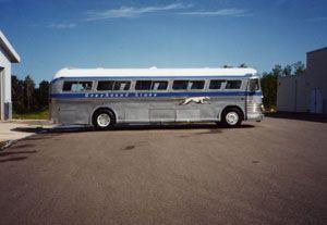Greyhound Bus Lines 1955 Courier Bus Greyhound Bus