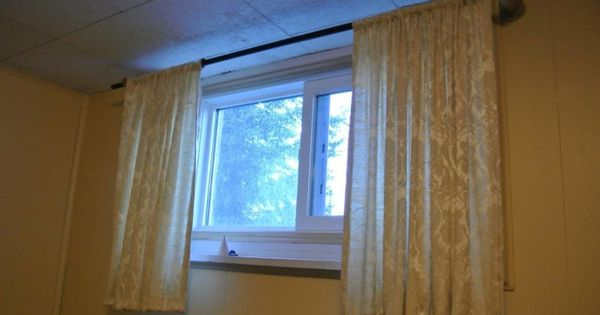 basement window curtains small basements and basement wind