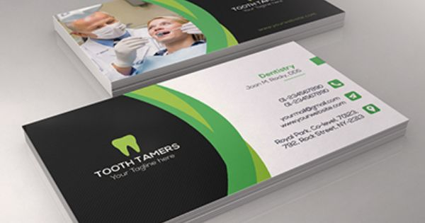 Check Out New Work On My Behance Portfolio Dental Business Card