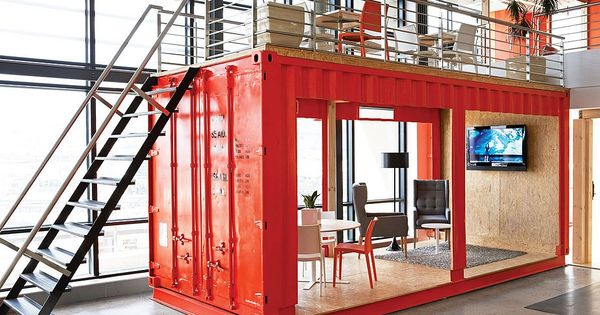 Inhouse repurposed a shipping container for the reception area at the Cape