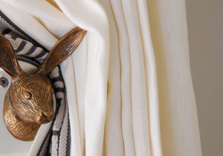 Diy Anthropologie Rabbit Hook Turned Curtain Hold Back Via