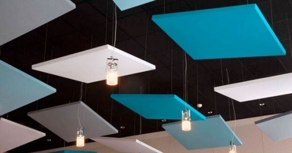 contemporary acoustic ceiling panels hanging panels sound absorbing panels  Andie's ...