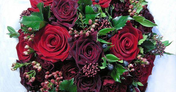 Winter bouquet - Wedding bouquet, winter,reds