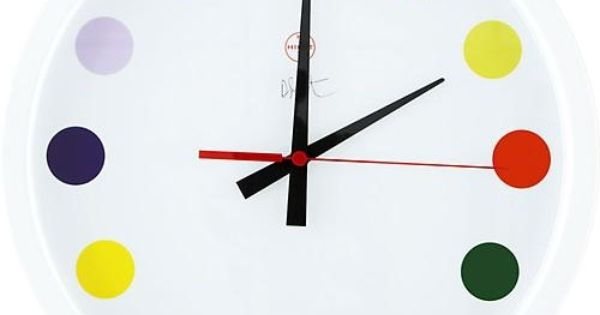 Spot Clock by Damian Hirst Clock Damian_Hirst