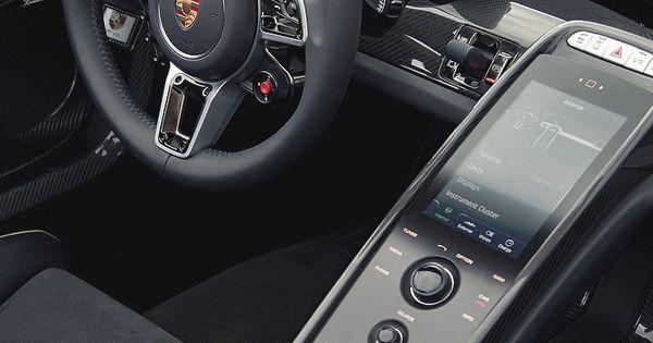 porsche 918 spyder black steering wheel interior race sport digital dashboard. Black Bedroom Furniture Sets. Home Design Ideas