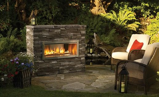 Outdoor gas fireplace designs pictures standing for Outdoor gas fireplace designs