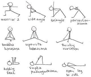 My First Time Yoga Stick Figures Yoga Postures Stick Figures