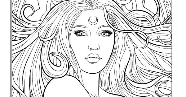 dark fantasy coloring pages - photo#24
