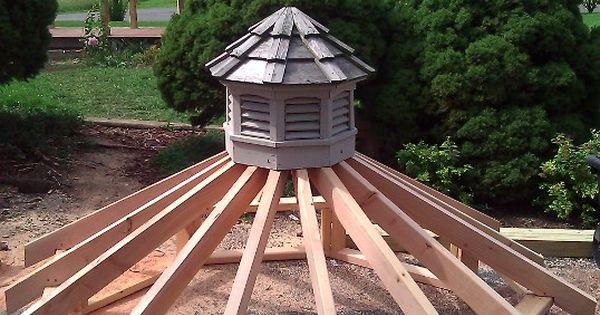 Gazebo Roof Framing Upper Tier Of New Gazebo Roof With