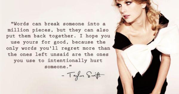 so true, well said TSwift