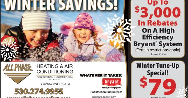All Phase Heating Air Conditioning Discounts And Promotions