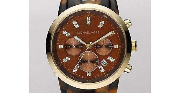 Sale Show Stopper Chocolate Tortoise Chronograph Watch Tell time in chic style