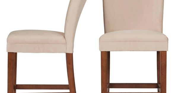 Tribecca Home Parson Classic Upholstered Counter Height Chairs Set Of 2 Mu