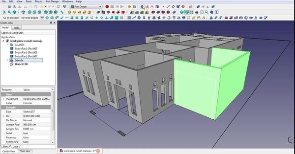 Make A House In Freecad Tutorial Part 4 Roof Modeling Roofing Roof House