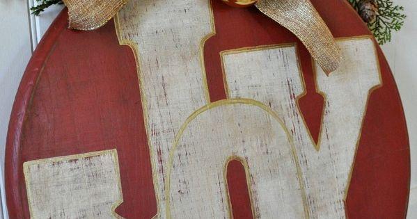 DIY Holiday Wood Ornament.