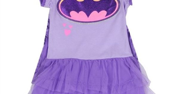 Sizes 4 5 6 6x Made From Dress 60 Cotton 40 Polyester Tulle 100 Polyester Label Dc Comics Batgirl Officially Li Toddler Girl Outfits Girl Outfits Cape Dress