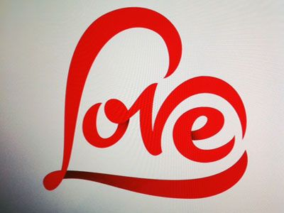 Love Typography Hand Lettering Creative